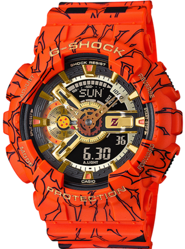 CASIO G-SHOCK DRAGON BALL Z LIMITED EDITION GA-110JDB-1A4 watchoutz.com