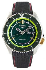 "Seiko 5 Sports X ONE PIECE ""Roronoa Zoro"" Automatic Green Limited Edition SRPF57K1 www.watchoutz.com"