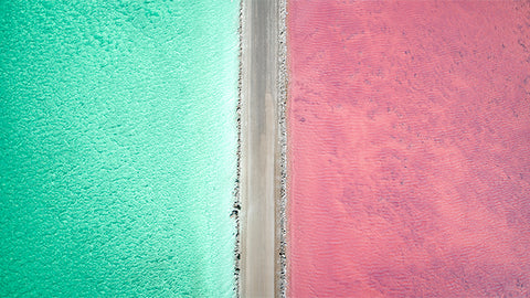 Australia Pink Lake Photo Art - Lake MacDonnell in all its otherwordly beauty! Best appreciated from above. Fine Art Photo Print. Pink Lake South Australia