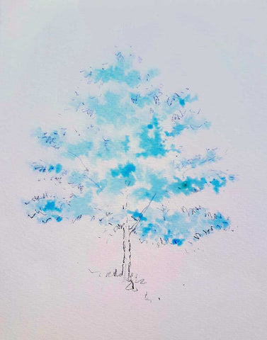 Painting a Tree in Autumn