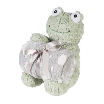 "Cuddly Frog 10"" Stuffed Animal w/ Blanket Gift Set"