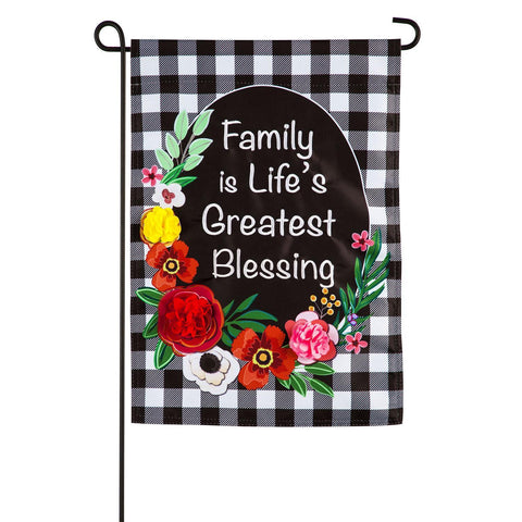 Family is Life's Greatest Blessing Garden Flag