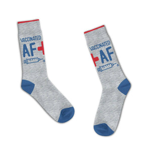 """Vaccinated AF"" Limited Edition Socks"