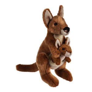 Kangaroo Mom and Baby Stuffed Animal Set