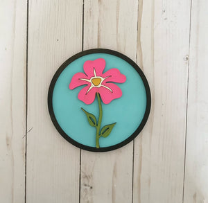 Flower Insert for Shiplap Circle