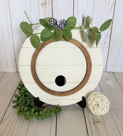 Shiplap Circle with insert