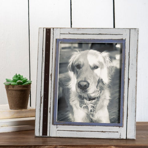 8X10 Rustic Wood Photo Frame White