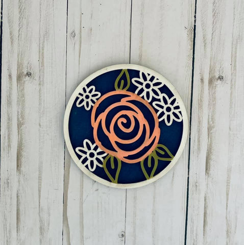Rose Shiplap Circle Insert