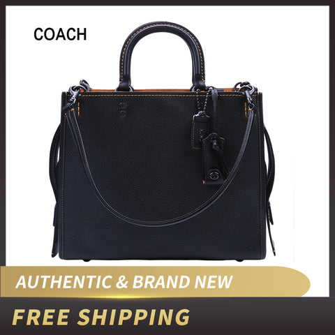 COACH Rogue Grab Tank Pebble Leather Handbags
