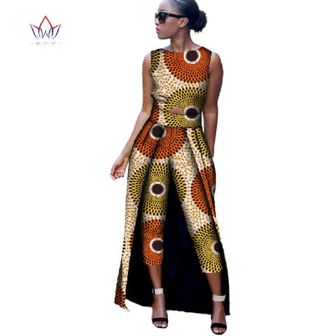 New African Cotton Print Jumpsuit