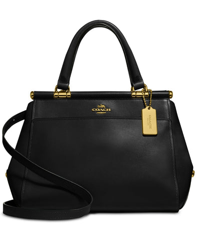 COACH Grace Bag Shoulder Handbags (Black/Gold) Luxury Handbags