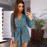 New Sexy Casual Gold Wire Shorts Jumpsuit