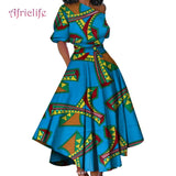 New Designed African Cotton Summer Dresses With Belt