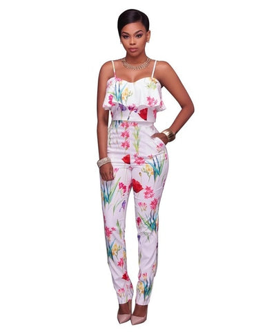 Sexy African Print Party Jumpsuit