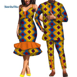 Bazin Designer Lover Couples African Print Set