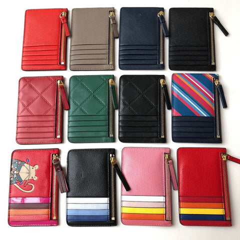 Simple Cartoon Pattern Genuine Leather Wallets