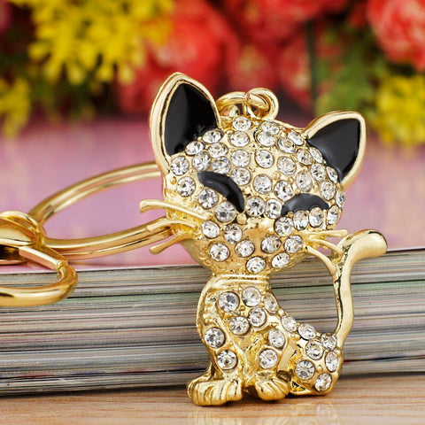 Cute Cat Crystal HandBag Accessories