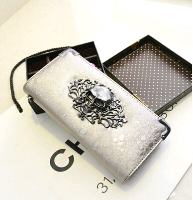 Punk Cool Skull Clutch Wallet