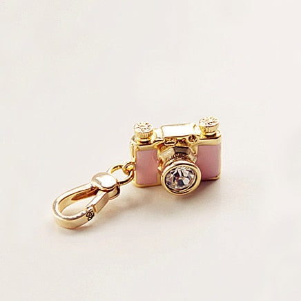 Fashion Pink Camera Charm Handbag Jewelry
