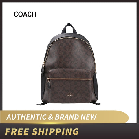 Coach PVC Backpack Double Shoulder Bag