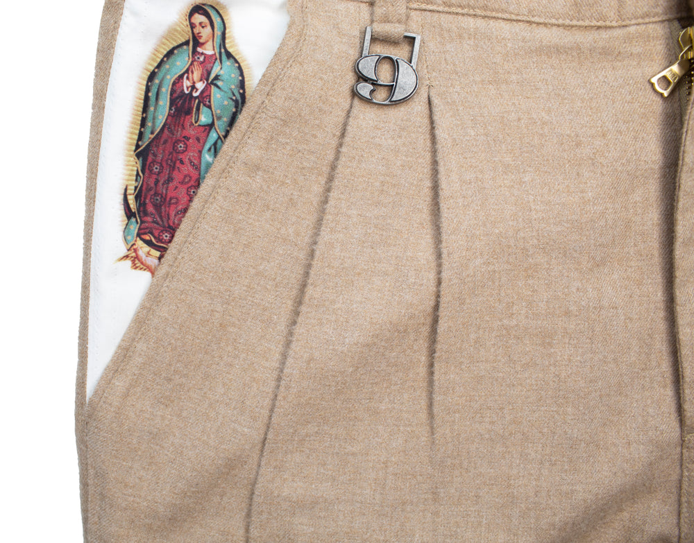 Hail Mary Wool Double Pleat Pant
