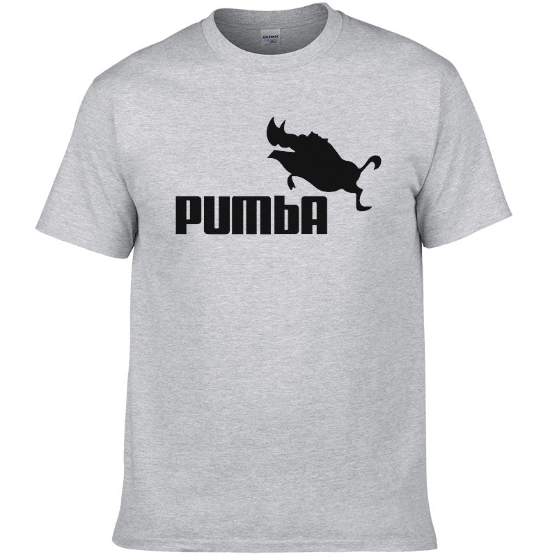 funny tee cute t shirts homme Pumba men short sleeves cotton tops cool tshirt summer jersey costume t-shirt - ShopTug