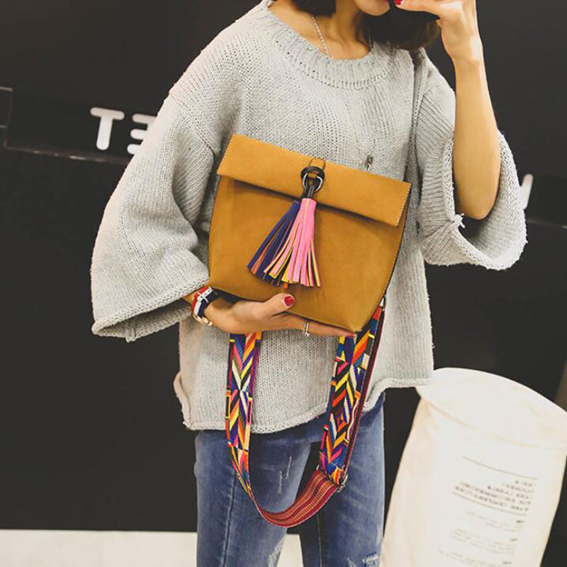 New Women Messenger Bag Tassel Crossbody Bags For Girls Shoulder Bags Female Designer Handbags Bolsa Feminina Bolsos Muje - ShopTug