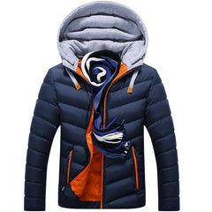 Men winter white duck down jacket coat | parka men's casual thickening warm - ShopTug