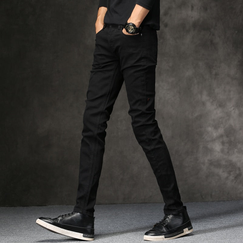 Men Jeans Black Classic | Denim Skinny Jeans | Slim Fit Trousers - ShopTug
