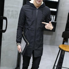 Winter Jacket men | hooded Slim Korean Parka Hombre long Jacket