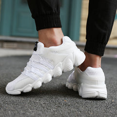 Sport Sneakers Black & White Sport Men Shoes | sports shoes - ShopTug