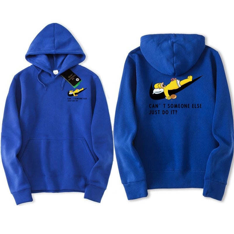 JUST BREAK IT Printed Men Sweatshirt | Hip-Hop Simpson Hoodeds - ShopTug