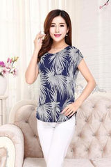5XL 2018 women summer tops tees ladies short t shirt Women's Boat anchor t-shirt Silk female tshirt woman clothes plus size - ShopTug