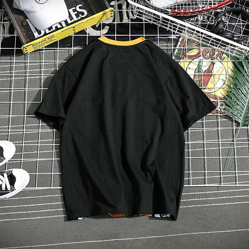 T Shirt Cotton Tees |  O-Neck Hip Hop Baseball Tshirt