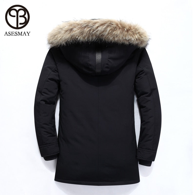 Asesmay Men Jacket White | Thick Warm Parkas - ShopTug