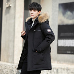Asesmay Men Jacket White | Thick Warm Parkas