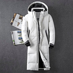 Asesmay brand clothing winter jacket for men | long coat goose feather - ShopTug