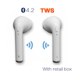 Wireless Headphone  for iPhone & Android  | Handfree Earbuds Universal - ShopTug