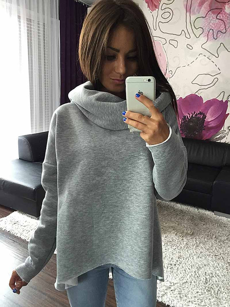 DICLOUD Women Christmas Clothes Winter Autumn Hoodies Scarf Collar Long Sleeve Fashion Casual Sweatshirts Rough Pullovers S-XL - ShopTug
