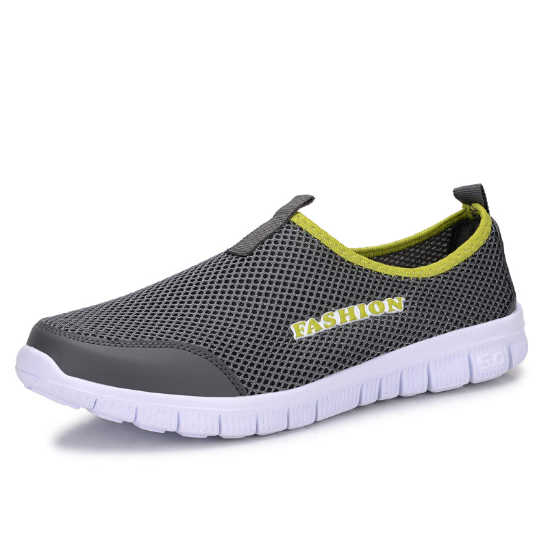 Fashion summer shoes men casual air mesh shoes large sizes 38-46 lightweight breathable slip-on flats chaussure homme - ShopTug