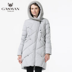 GASMAN 2018 New Winter Collection Brand Fashion Thick Women Winter Bio Down Jackets Hooded Women Parkas Coats Plus Size 5XL 6XL - ShopTug