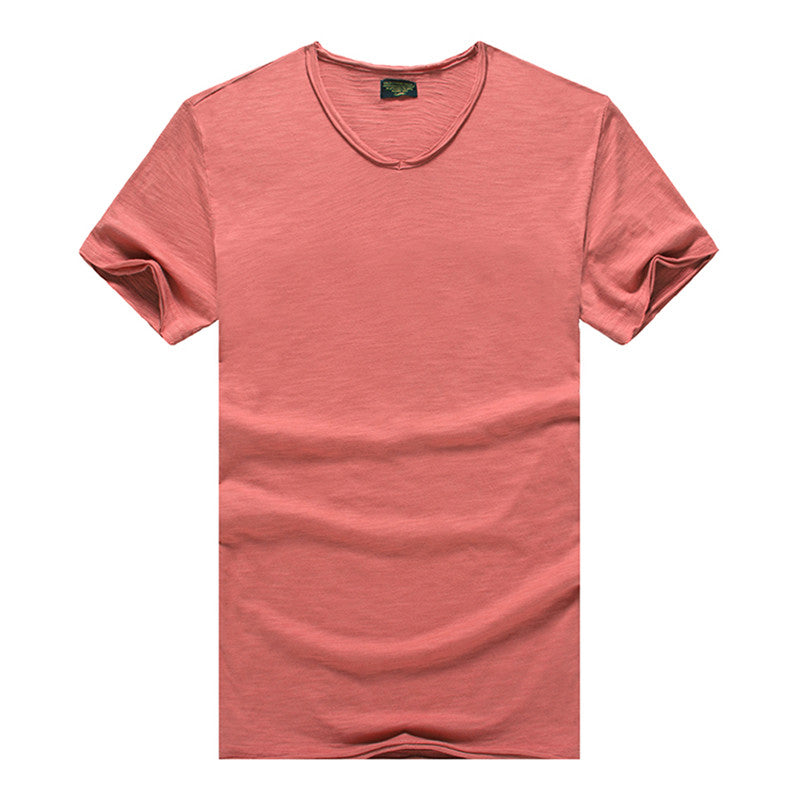 Men's T-shirt Short Sleeve | V-neck Slim T-shirt - ShopTug