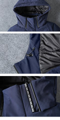 Asesmay brand clothing winter jacket for men | long coat goose feather