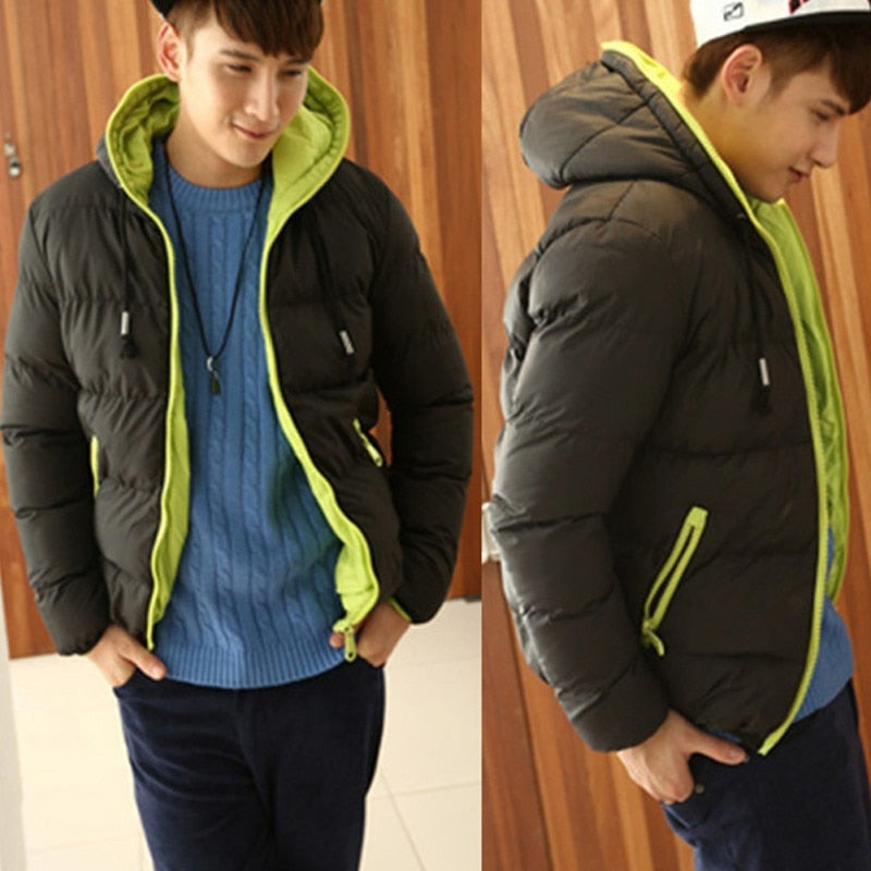Winter Warm Jacket for Men | Hooded Slim Casual Coat - ShopTug