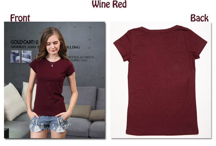 High Quality 18 Color S-3XL Plain T Shirt Women Cotton Elastic Basic T-shirts Female Casual Tops Short Sleeve T-shirt - ShopTug