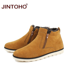 Casual Ankle Boots Warm Winter Fur Shoes Leather Footwear - ShopTug