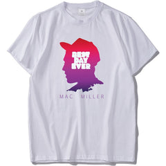Mac Miller Tshirt Rap Men Cool Graphic Print T-shirt Cotton O-neck Shirts Summer Casual Tops Streetwear Hip Hop Rapper Shirt - ShopTug