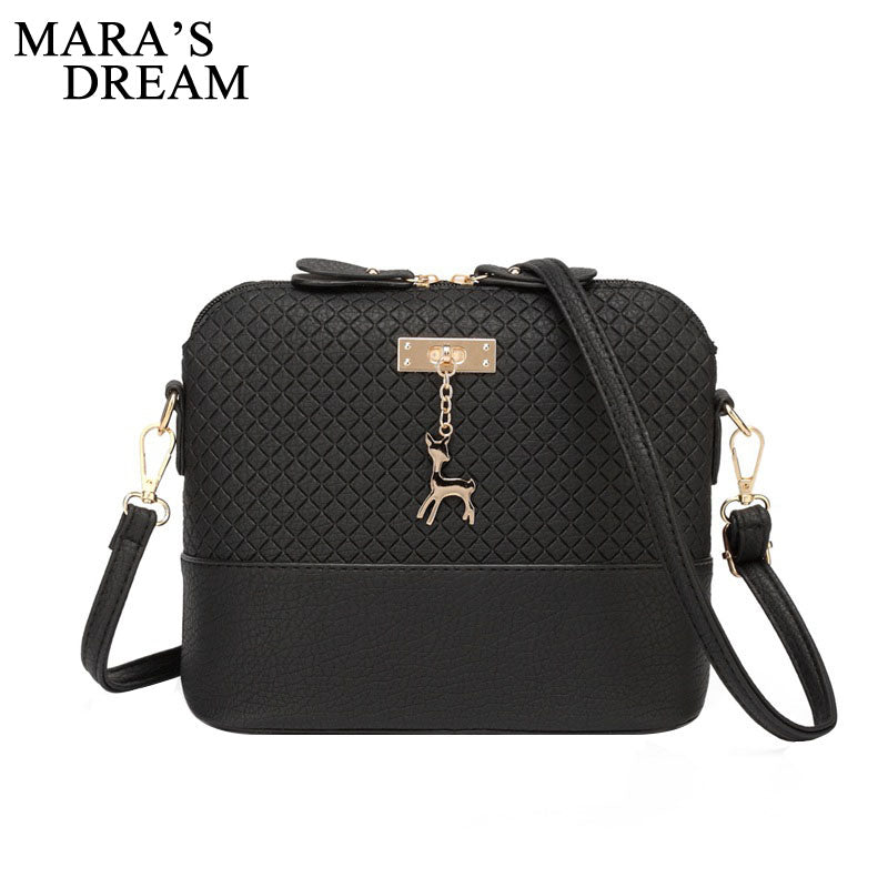 8d426e9539 ... Mara s Dream 2018 Women Bag Messenger Bags Fashion Bag With Deer Toy  Shell Shape Girls Shoulder ...