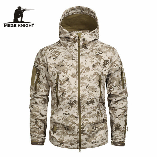 Mege Brand Clothing Autumn Men's Military Camouflage Fleece Jacket Army Tactical Clothing  Multicam Male Camouflage Windbreakers 1 - ShopTug