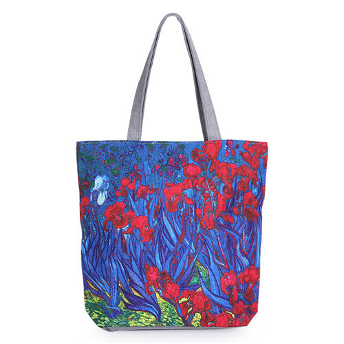 Miyahouse Floral Printed Canvas Tote Female Single Shopping Bags Large Capacity Women Canvas Beach Bags Casual Tote Feminina - ShopTug